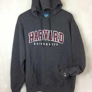 Champion Harvard University Dark Grey Hoodie L